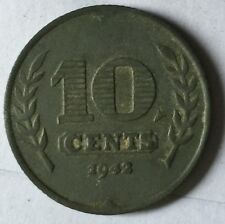 1942 Nederland 10 cents coin  very high grade!