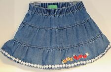 SESAME STREET Size 24 Months Blue Denim Skirt with Inner Shorts