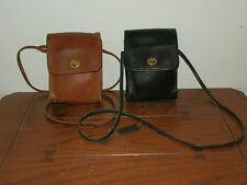 Lot Vintage Coach Small Brown Black Leather Crossbody Shoulder Bag Camera Bag