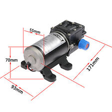 DC 12V 100W 8Lpm Diaphragm High Pressure Water Pump For Wash Car Boat Marine