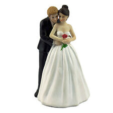 Romantic Love Yes to the Rose Bride and Groom Couple Figurine Resin Decor
