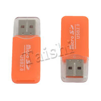 2X  TF T-FLASH KARTENLESER MICRO SD CARD READER USB ADAPTER USB 2.0 MICROSD SDHC