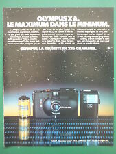 12/1980 PUB APPAREIL PHOTO OLYMPUS XA 24 X 36 CAMERA ORIGINAL FRENCH ADVERT