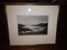 George Kirk Antique Scottish Etching Lach Tay Listed Artist Museum Quality Work