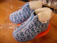 Scarpe shoes pantofole inverno bambina CHICCO NR. 26  azzurro glitter nuove!