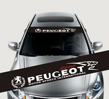 Reflective Front Windshield Decal Vinyl Car Stickers for PEUGEOT Auto Accessorie