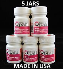 5 JARS Opahl 20% Benzocaine Topical Anesthetic CHERRY Tattoo Numbing Piercing