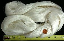 Large Skein Filament SILK Thread Gudebrod 4+ oz White Undyed ~2000+yd Very Fine