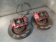 Seat Leon Cupra R 225 mk1 Front Brembo Brake 4 Pot Calipers inc Disks +Pads VGC