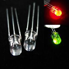 5 x 5mm 3 Pins Common Anode Red Green LED Light Clear Bulb Bright Emitting Lamp