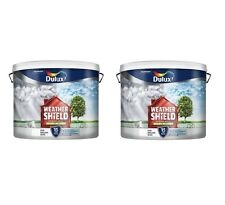 2 For £ 53.99 Dulux Weathershield Pure Brilliant White Smooth Masonry Paint 7.5L