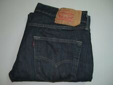 Mens LEVI'S STRAUSS & CO. 501 Very Dark Blue Denim Jeans W36 L30 Straight Leg