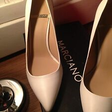 MARCIANO GUESS ELSA Leather Classic Pumps Shoes Heels White  US 8