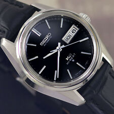 VINTAGE MEN'S KING SEIKO HI-BEAT AUTOMATIC DAY&DATE ANALOG DRESS LEATHER WATCH
