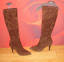 *37* SUPERB KENNETH COLE BROWN LEATHER SUEDE BOOTS  UK 3 USA 5M