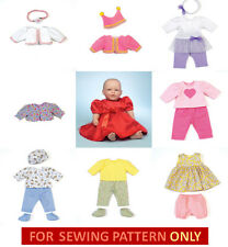 SEWING PATTERN! MAKE BABY DOLL CLOTHES FOR BITTY BABY~TOODLES~TWINS~BETSY WETSY