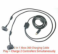 2 in1 2.5M Long USB Play + Charger Charging Lead Cable for Xbox 360 Controller