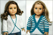 Knitting Pattern - Clara Cardigan Sweater For American Girl 18 Inch Doll Clothes