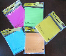 2 NEW PACKAGES OF POST-IT BRAND SUPER STICKY LINED PAPER NOTES