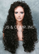 Full Curly and Long layered Stunning wig perm tease Dark Brown JSN 4