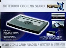 NEW NOTEBOOK LAPTOP NETBOOK COOLER PAD 38CM X 28CM, FAN, CARD READER & USB HUB