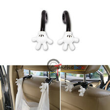 Universal Car Seat Headrest Arm Hanger Hook for Bag Grocery Cloth Mickey Mouse