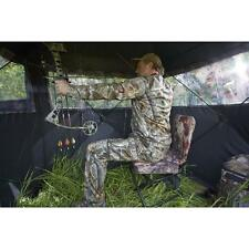 Swivel Hunting Chair Outdoor Archery Bow Rifle Ground Blind 360 Degree Folding