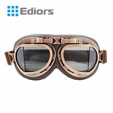 Helmet Steampunk Copper Motorcycle Flying Goggles Vintage Pilot Biker Smoke Lens