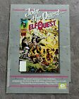 ELFQUEST #1 Comic 1985 Wendy Richard Pini PROMO WaRP Epic Marvel Poster G
