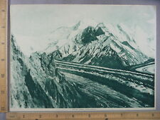 Rare Antique Original VTG Bride Peak Himalayas Photogravure Art Print