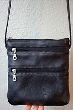 EUC PAUL & TAYLOR Black LEATHER PURSE Small SHOULDER Cross-Body BAG Travel
