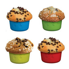 1-Up Mushroom Cupcake Muffin Baking Mold Silicone 4 Pack Video Game Geeky Gift