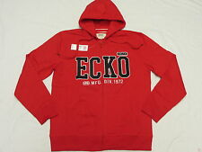 $58 NWT NEW Mens Ecko Unltd Big Logo Hoodie Sweatshirt Red Urban Hoody Sz M K356
