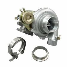"""CXRacing T3 T4 8PSI Wastegate Turbo Charger 0.48 AR 0.60 A/R + 2.5"""" V-Band Kit"""