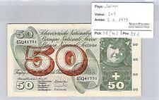 BILLET SUISSE - 50 FRANCS 7-3-1973*