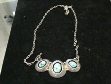 Sterling Silver necklace and turquoise pendant   1119201610247