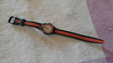 PreOwned Gymboree sports ball themed wrist Watch Works? PARTS Needs TLC