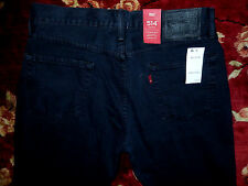 $58 Levi's 514 Mens Black Jeans Size 38x30 Authentic Slim Fit Straight Leg Denim