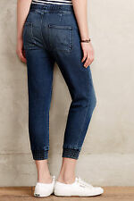 $209 NEW Mother Denim - Drawstring Crop Trainer in Comfort and Joy - Size 29