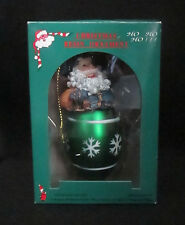 Santa Claus Candy Cane Good Old Values Resin Christmas Ornament Style G91268