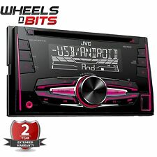 NEW JVC KW-R520 FRONT AUX & USB INPUT, DOUBLE DIN STEREO FM RADIO Colour change