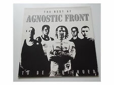 Agnostic Front ‎- The Best Of...To Be Continued - LP