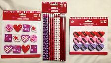 Valentine's Day 12pc In Each Pk Of Pencil Eraser Sharpener Gift Party Loot Bags