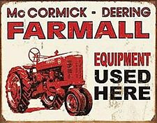 Blechschild McCormick-Deering Farmall Equipment    (de)