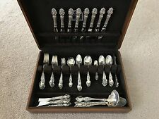 85 Piece Wallace Violet Sterling Silver Flatware Set Service For 8 Rare Find!