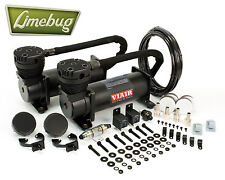 Viair 480C Stealth Black Dual Pack 12 Volt Air Compressor Kit (200PSI) Air Ride