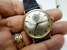 Mens Vintage 14KT Solid Gold Hamilton Automatic Wrist Watch Cal 869 A 17J