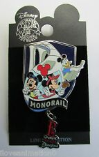 Disney Pin 29632 DLR Annual Passholder E-Ticket Monorail Mickey Mouse Pin