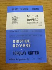 12/11/1966 Bristol Rovers v Torquay United  . Condition: Listed previously in br