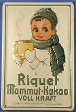 Blechschild Riquet Mammut Leipzig Schokolade Kakao Schild Nostalgieschild